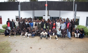 Workers at the MADE Kenyan workshop